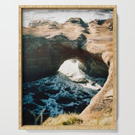 Devils Punchbowl on the Oregon Coast - Film Photograph Serving Tray