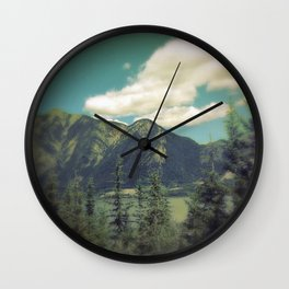 Canadian Rockies Wall Clock