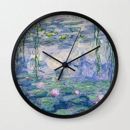 """Claude Monet """"Water Lilies(Nymphéas)"""" (9) 1916–19.jpg Wall Clock"""