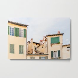 White and green Old town Lucca in Italy Metal Print