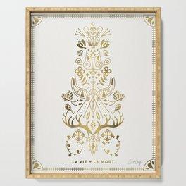 La Vie & La Mort – Gold Palette Serving Tray