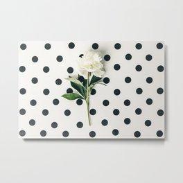 White peony flower Metal Print