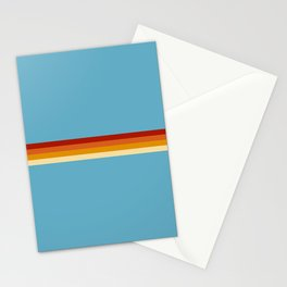 Losna - Classic Retro Summer Stripes Stationery Cards
