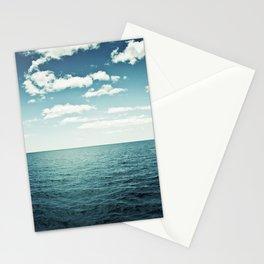 Ocean Sky Photography, Sea Horizon, Dark Teal Turquoise Aqua Blue Seascape Stationery Cards