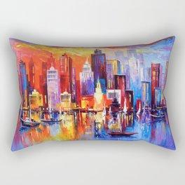 Evening new York Rectangular Pillow