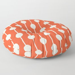 Bubble chain geometric pattern Floor Pillow