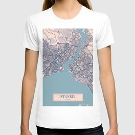 Istanbul - Turkey Breezy City Map T-shirt