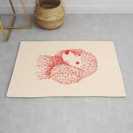 Poodle (Light Peach and Red) Rug