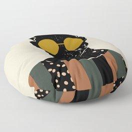 Black Hair No. 7 Floor Pillow