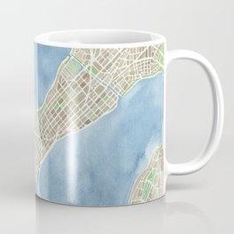City Map Madison Wisconsin watercolor  Coffee Mug
