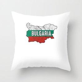 Patriotic Bulgarian Bulgaria Flag Nationalism Throw Pillow