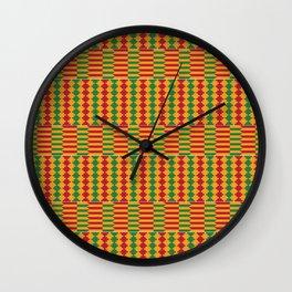 Bright Kente Cloth 5 Wall Clock