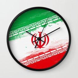 Iran's Flag Design Wall Clock