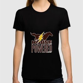 Funny Horseman Horse Powered Horse Racing Gift T-shirt
