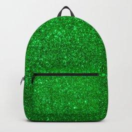 Emerald Green Shiny Metallic Glitter Backpack
