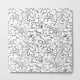 Endless energy lines black and white art print Metal Print