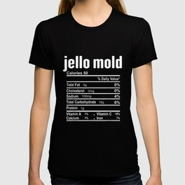 Jello Mold Nutrition Facts Family Matching Christmas T-shirt