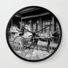 New Orleans milk cart Wall Clock