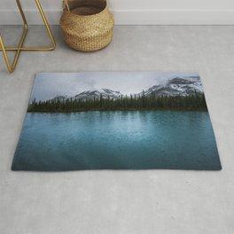 Jasper Maligne Lake Photography Rug