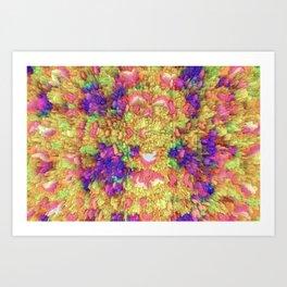 Neon Extrusion III Art Print
