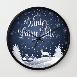 Christmas Winter Fairy Tale Fantasy Snowy Forest - Collection Wall Clock