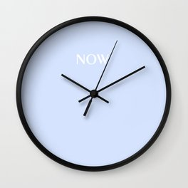 NOW BABY BLUE PASTEL solid color Wall Clock
