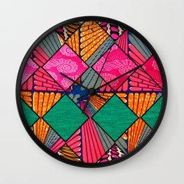 Pink & Cute African Print Wall Clock