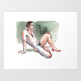 JORDAN, Nude Male by Frank-Joseph Kunstdrucke