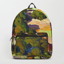 Sunset in the Foothills - William Herbert Dunton Backpack