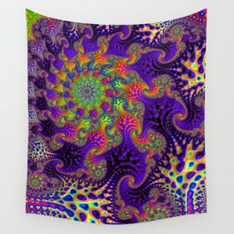Vibrant Rainbow Spiral Wall Tapestry