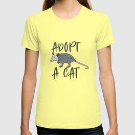 Possum Adopt A Cat Ugly Opossum Lovers Vintage Gift T-shirt