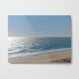 Ocean Solitude, Atlantic Ocean, Morning Beach, Metal Print