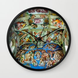 Spectacular Sistine Chapel Frescoes, Rome, Italy color photograph / photography / photographs Wall Clock