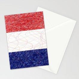 Netherlands Flag Scribble Stationery Cards