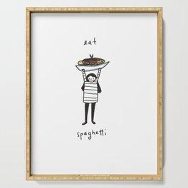 Eat spaghetti 2 Serving Tray