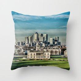London - Canary wharf Towers Throw Pillow