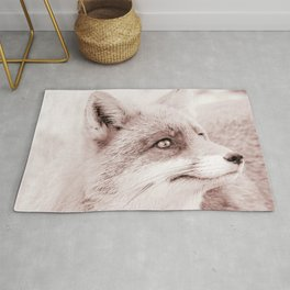 fox reddened earth tone washed out effect aesthetic landscape art photography Rug