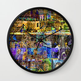 In A Cluttered Hell Wall Clock