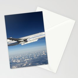 Orbital ATK L-1011 Stargazer aircraft flying over the Atlantic Ocean offshore from Daytona Beach Flo Stationery Cards