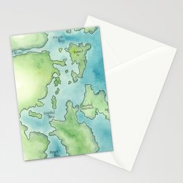 Go Home Lake - Nature Map Stationery Cards