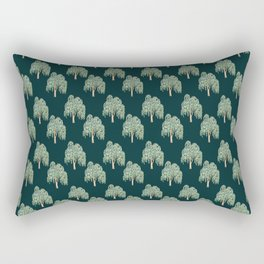tree print on green background Rectangular Pillow