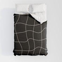 Warp Grid: Midnight Black Edition Comforters