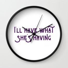 What She's Having Wall Clock
