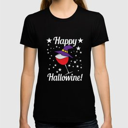 """Fan of Halloween even if its not November? Now you can! Grab this cool shirt now! """"Happy Hallowine"""" T-shirt"""