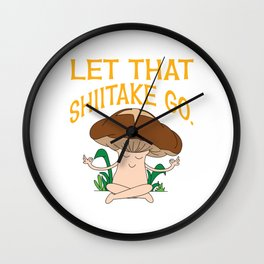 Let your love for mushroom burst out to the world of shitake! Creative, lovely and colorful design!  Wall Clock