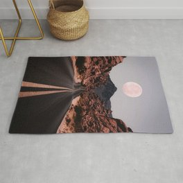 Road Red Moon Rug