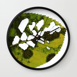 The Imperfect Leaf Wall Clock