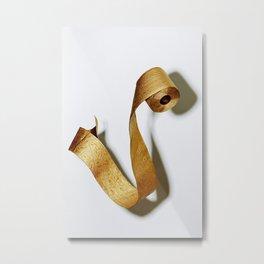 Gold Toilet Paper Metal Print