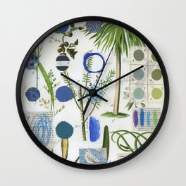 Botanical Series: Blue Wall Clock