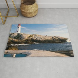 Canada Photography - Lighthouse By The Sea Rug